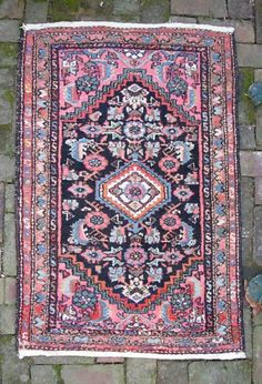 Antique Hamadan Persian Rug early 1900s in Antiques, Rugs & Carpets, Small (3x5 and smaller) | eBay