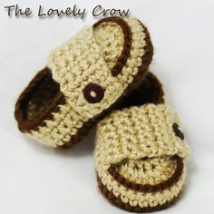 Baby boy shoes Crochet Pattern Loafers  for Little PRINCE Loafers  -  4 sizes - Newborn to 12 months.