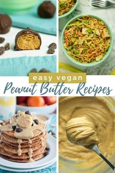 Who else loves PEANUT BUTTER? I sometimes truly eat it straight from a spoon. But peanut butter is good for so much more than PB Whipped Peanut Butter, Peanut Butter Truffles, Peanut Butter Sauce, Peanut Butter Desserts, Vegan Peanut Butter, Oats Recipes, Vegan Recipes Easy, Sweet Recipes, Vegan Rice Crispy Treats
