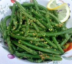 Lemon Garlic Green Beans recipe -- Juggling With Julia