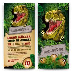 Einladung Kindergeburtstag   T Rex Dinosaurier #geburtstag #einladung  #geburtstagseinladung #kindergeburtstag #