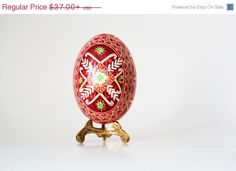Pysanka Ukrainian Easter egg decorated by UkrainianEasterEggs