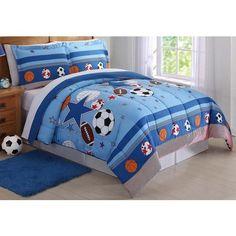 Laura Hart Kids Sports and Stars Blue Twin Comforter Set Kids Comforter Sets, Best Bedding Sets, Queen Comforter Sets, Star Bedding, Teen Bedding, Sports Bedding, Indigo, Bed Sizes, Bed Spreads