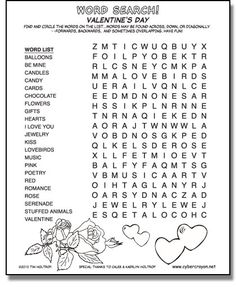 valentine's day printables - Google Search   A Day of L'Amore ...
