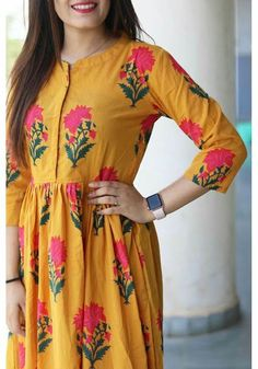 Pink block maxi dress is part of Yellow maxi dress - Salwar Designs, Kurta Designs Women, Kurti Designs Party Wear, Blouse Designs, Feeding Dresses, Couture, Yellow Maxi Dress, Mode Hijab, Indian Designer Wear