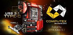 ASRock Fatal1ty X99X Killer/3.1 Takes Home the COMPUTEX d&i Award 2015