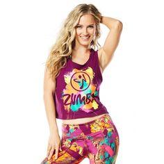 Koszulka Da Zumba Funk Crop Tank Fioletowa