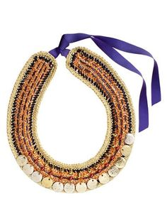 burda style, Anleitung - So häkeln Sie das Prachtvolle Collier mit schimmernden Effektgarnen, Perlen und goldfarbenen Metallmünzen