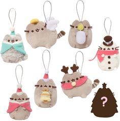 PUSHEEN CHRISTMAS TREE DECORATIONS Um yes please!!!! I need enough of these to decorate my entire tree! Imagine that, a Pusheen theme tree haha. So kawaii! Love the reindeer ornament and the little santa hats hehe. i'm so going for a Pusheen holiday theme this year! #ad #pusheen #kawaii #christmas #xmas #holidays #christmastree #ornaments