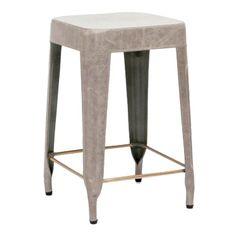 Made Goods Jamy Stool - Storm   Bar & Counter Stools   Dining Room   Furniture   Candelabra, Inc.
