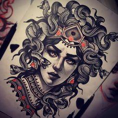 "5,446 Likes, 70 Comments - Vitaly Morozov (@mvtattoo) on Instagram: ""#tattoo#tattoos#tattooart#tattooflash#sketch#art#draw#girl#medusa#mvtattoo#mv#morozov#snake#mythical#морозов#татуировка#картинка#тату"""