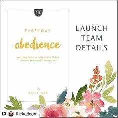 #Repost @thekatieorr with @repostapp  My next Bible study is heading to print very very soon and we are busy behind the scenes preparing for its early May arrival!   I will be leading a group of 50 women online influencers through pre-released copies of the study in a private Facebook group from March 27  April 21 2017. This will also serve as a launch team. As we study Everyday Obedience together we'll get the word out about the study.   It's going to be a ton of fun. If you are interested…