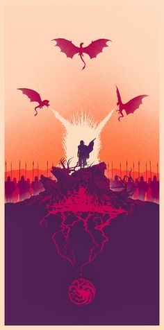 Cool Art: 'Fire And Blood' by Marko Manev #GameOfThrones
