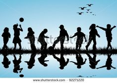 Children Silhouette Stock Photos, Royalty-Free Images & Vectors ...