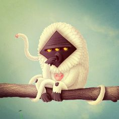 Like a Monkey! by Juan Carlos Paz Gómez AKA -BAKEA-, via Behance