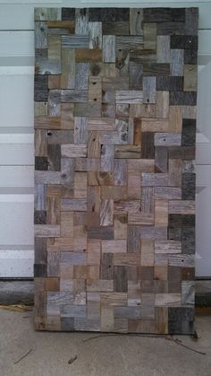 2'x4' chevron pattern reclaimed wood art by wood and sinew