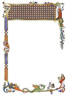 Medieval border with broad header space by dashinvaine on deviantART