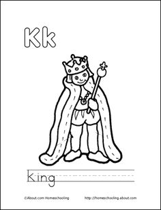 my k book king coloring page