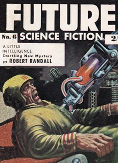 Future Science Fiction. No.6 Cover Art. EMSH
