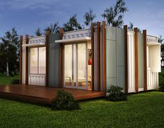 These shipping container homes range from tiny yet comfortable one-bedroom models to spacious stacked 4-bedroom residences.