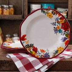 The Pioneer Woman Timeless Floral Dinner Plate Set, 4-Pack - Walmart.com