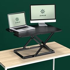Shop the latest collection of Zinus Tina Smart Adjust Standing Desk / Adjustable Height Desktop Workstation / 32 x 22 / Black from the most popular stores - all in one place. Sit Stand Workstation, Sit Stand Desk, Standing Desk Height, Standing Desks, Contemporary Office Desk, Adjustable Desktop, Double Desk, Pc Desk, Adjustable Height Desk