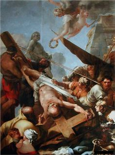 Le crucifiement de Saint Pierre - Sebastien Bourdon