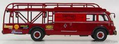 BRUMM OLDCARS TS02 Scale 1/43  FIAT 642RN2 TRUCK BARTOLETTI F1 CAR TRANSPORTER GP ITALIA 1961 + 1 FERRARI 156 TEST CAR N 0 RED