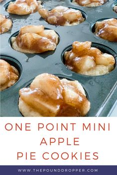 Oct 2019 - These WW Mini Apple Pie Cookies taste just like an apple pie, but in a cookie! Perfect for fall gatherings! Servings: Make 24 mini apple pie cookies or 12 regular size pie cookies myWW GREEN, BLUE Weight Watcher Desserts, Weight Watchers Snacks, Plats Weight Watchers, Weight Watchers Meal Plans, Weight Watchers Apple Recipes, Weight Watchers Recipes With Smartpoints, Weight Watchers Cheesecake, Weight Watcher Breakfast, Sweets