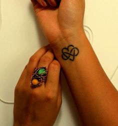 Definitely getting this as my first tattoo, just not on my wrist. Infinite love <3