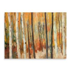 Portfolio Canvas Decor 'Through The Trees' by Elinor Luna Framed Painting Print on Wrapped Canvas, As Shown Large Canvas Wall Art, Tree Canvas, Canvas Art, Canvas Prints, Modern Wall Art, Metal Wall Art, Painting Frames, Painting Prints, Living Room Art