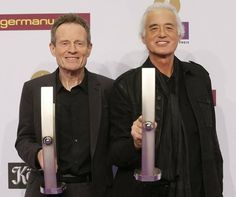 Jimmy Page and John Paul Jones getting their Echo Awards in Berlin, Germany, March 21, 2013