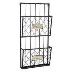 Nice square wall-mounted magazine & newspaper racks Wall Racks, Wall Storage, Wall Shelves, Newspaper Wall, Newspaper Stand, Organization Skills, Organizing Ideas, Declutter, Organize