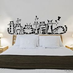 60 + Beautiful Wall Decals Background wall stickers are a kind of good decorative material in wall decoration. It is easy to paste, fast and decorative. Different styl Home Decor Styles, Diy Home Decor, Doodle Wall, Wall Painting Decor, Wall Decor Stickers, Stickers For Walls, Wall Decal, Wall Drawing, Beautiful Wall