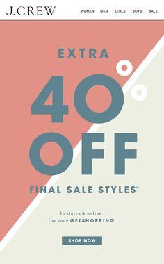 J.Crew - Extra 40% Off Final Sale