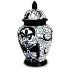 NOVICA Ceramic urn (170 SAR) ❤ liked on Polyvore featuring home, home decor, blue, home accessories, jars and bottles, ceramic bottle, blue bottle, blue urn, ceramic urn and novica