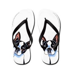 Boston Terrier Its All About Me Flip Flops on CafePress.com