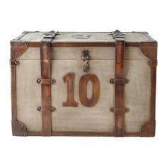 Maison du monde Ambiance industrielle Malle en toile de coton marron L 60 cm DARLINGTON Dimensions (cm) : H 40 x L 60 x PR 40 189,90 €