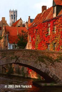 Autumn in #Brugge (Bruges), Belgium. So nice, so beautiful and so quiet. Recommended period to visit Bruges.  http://www.hotelnavarra.com/en/info/1425/Winter-Offer.html