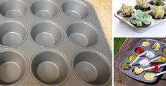 12 kreatívnych nápadov využitia plechu na muffiny, ktoré nemajú nič spoločné s pečením. Kreatívne nápady ako využiť plech na muffiny inak ako na pečenie