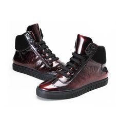 R  444.73 49% de desconto High Top Punk Vaca Dos Homens Rendas Até Sapatos  Casuais Masculinos de Couro Genuíno Respirável Moda Lacets Chaussures  Chaussure ... a61029f520