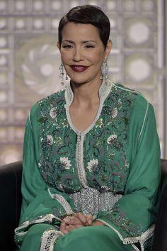 Princess Lalla Meryem looking fabulous at the Arab World Institute in Paris on Sunday.
