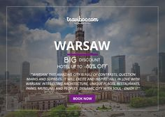 BOOK NOW: http://www.traviboo.com/hotels_warsaw