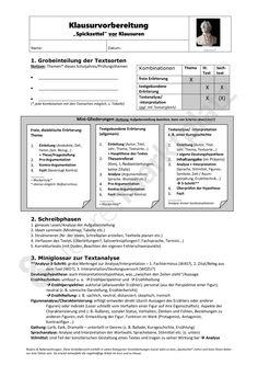 Deutsch in der Oberstufe: Spickzettel vor der Klausur (Fachabitur, Abitur) - Seite 1