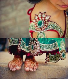 Indian jeweled stitched banks wedding