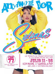 Anything for Selenas: Tributo de Transformistas a La Eterna Reina del Pop #sondeaquipr #anythingforselenas #club77 #riopiedras #sanjuan