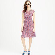 J.Crew - Sleeveless silk chiffon dress in watercolor dot
