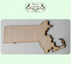 Massachusetts State ( Small) Wood Cut Out - Laser Cut