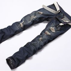 38.09$  Watch here - http://aigue.worlditems.win/all/product.php?id=32750219744 - Large Size Men Fashion Jeans Spring Summer Comfortable Wear Male Trousers High Quality Full Length Midweight Solid Slim Hole