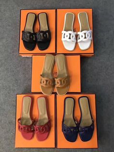 96e262693736 Hermes woman shoes leather slippers flats